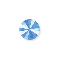 Swarovski 1122 12mm Crystal Summer Blue Rivoli Chaton (1-Pc)