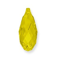 Swarovski Crystal 6010 Briolette Pendant 11x5.5mm Yellow Opal (1-Pc)