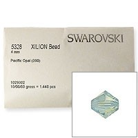 Swarovski 5328 4mm Pacific Opal Bicone Bead (Factory Pack of 1,440)
