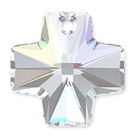 Swarovski Crystal Cross Pendant 6866 20mm Crystal AB (1-Pc)