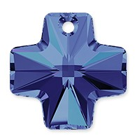 Swarovski Crystal Cross Pendant 6866 20mm Crystal Heliotrope (1-Pc)