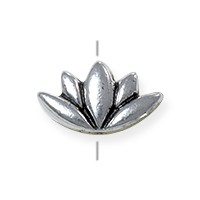 TierraCast Lotus Bead 7x12mm Pewter Antique Silver Plated (1-Pc)