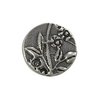 TierraCast Puffed Round Jardin Bead 14mm Antique Pewter Plated (1-Pc)