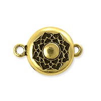 TierraCast Lotus Magnetic Clasp 20x14mm Pewter Antique Gold Plated (1-Pc)