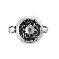 TierraCast Lotus Magnetic Clasp 20x14mm Pewter Antique Silver Plated (1-Pc)