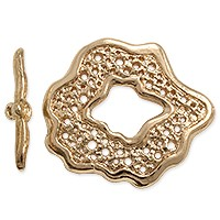Toggle Clasp - 27mm Pewter Rose Gold Plated (Set)
