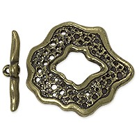 Toggle Clasp - 27mm Pewter Antique Brass Plated (Set)