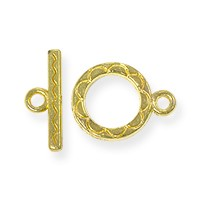 Toggle Clasp - 12mm Gold Plated (1-Pc)