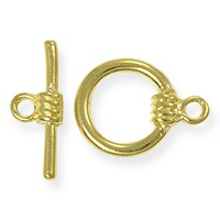 Toggle Clasp - 13mm Gold Plated (Set)