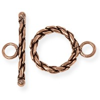 Toggle Clasp - Rope 15mm Copper (1-Pc)
