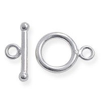 Toggle Clasp - 12mm Sterling Silver Filled (Set)