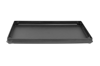 1 Inch Tall Standard Size Stackable Black Plastic Grooved Jewelry Utility Tray