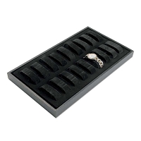 Black Velvet Lined Watch Display Tray