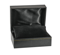 4x3 Cartier Style Black Watch Box with Black Pillow