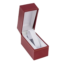 2x3 Cartier Style Red Watch Box with White Collar