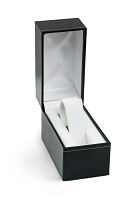 2x3 Cartier Style Black Watch Box with White Collar