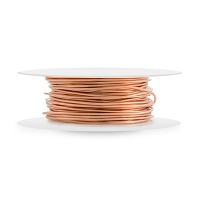 Bare Copper Wire Dead Soft Round 20ga (20-Ft)