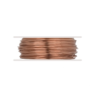 Bare Copper Wire Dead Soft Round 22ga (20-Ft)