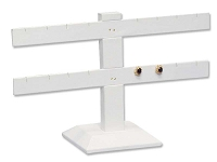White Earring Stand T-Bar 8-Pairs