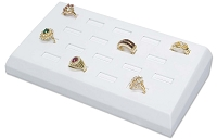 White Ring Tray Jewelry Display - Holds 18 Rings