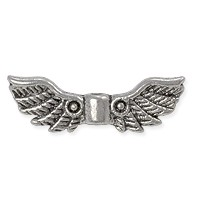 Wing Bead 4x22mm Pewter Antique Silver Plated (1-Pc)