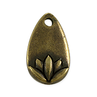 TierraCast 13x7.5mm Antique Brass Plated Lotus Petal (1-Pc)