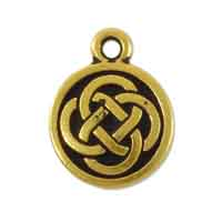 TierraCast Celtic Charm 15mm Pewter Antique Gold Plated (1-Pc)