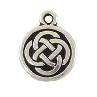 TierraCast Celtic Charm 15mm Pewter Antique Silver Plated (1-Pc)
