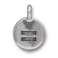 TierraCast Equality Charm 12x17mm Pewter Antique Silver Plated (1-Pc)