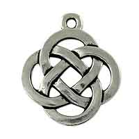 TierraCast Celtic Open Weave Round Pendant 19mm Pewter Antique Silver Plated
