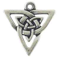 TierraCast Celtic Open Weave Triangle 21mm Pewter Antique Silver Plated (1-Pc)
