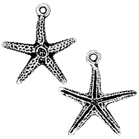 TierraCast Starfish Charm 16x18mm Pewter Antique Silver Plated (1-Pc)