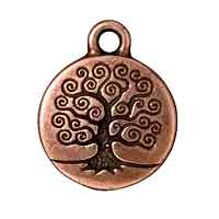 TierraCast Charm - Tree of Life 16mm Pewter Antique Copper Plated (1-Pc)