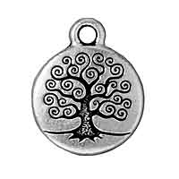 TierraCast Charm - Tree of Life 16mm Pewter Antique Silver Plated (1-Pc)