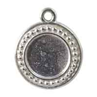 TierraCast Round Picture Frame 23mm Pewter Antique Silver Plated (1-Pc)