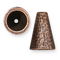 TierraCast Hammertone Cone 16mm Antiqued Copper (1-Pc)