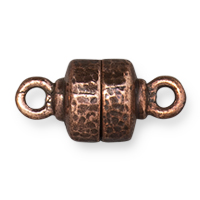 TierraCast Hammertone Magnetic Clasp 9x18mm Antiqued Copper (1-Pc)