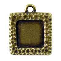 TierraCast Square Picture Frame 22mm Pewter Antique Brass Plated (1-Pc)