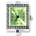 Rectangle Watch Face with Green Face 1-1/8