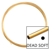 Gold Filled Round Wire Dead Soft 20ga (Priced per Foot)