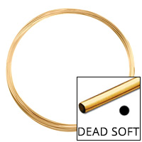 Gold Filled Round Wire Dead Soft 26ga (Priced per Foot)