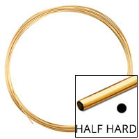 Gold Filled Round Wire Half Hard 22ga (Priced per Foot)