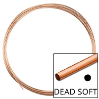 Rose Gold Filled Round Wire Dead Soft 22ga (Priced per Foot)