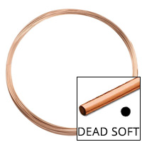 Rose Gold Filled Round Wire Dead Soft 24ga (Priced per Foot)