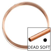 Rose Gold Filled Round Wire Dead Soft 28ga (Priced per Foot)
