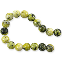 Yellow Turquoise Round Beads 12mm (8