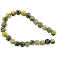 Yellow Turquoise Round Beads 8mm (8