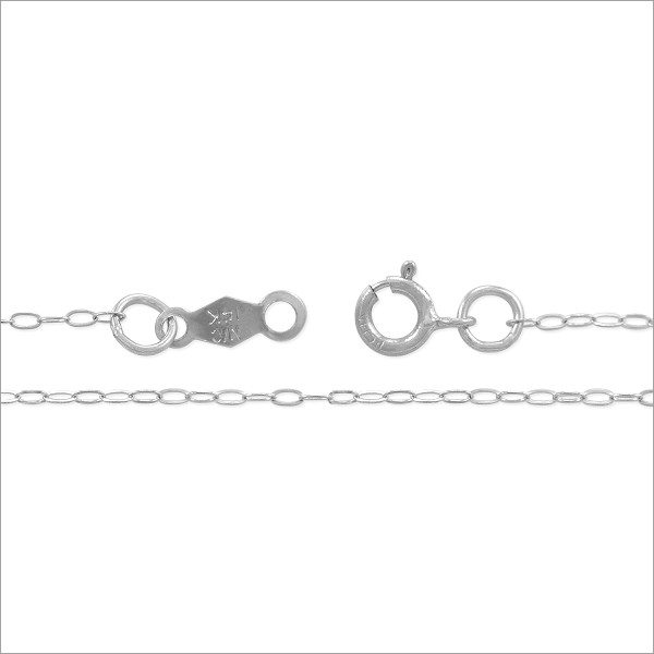 "Cable Chain .8mm 14k White Gold 16"" (1-Pc)"