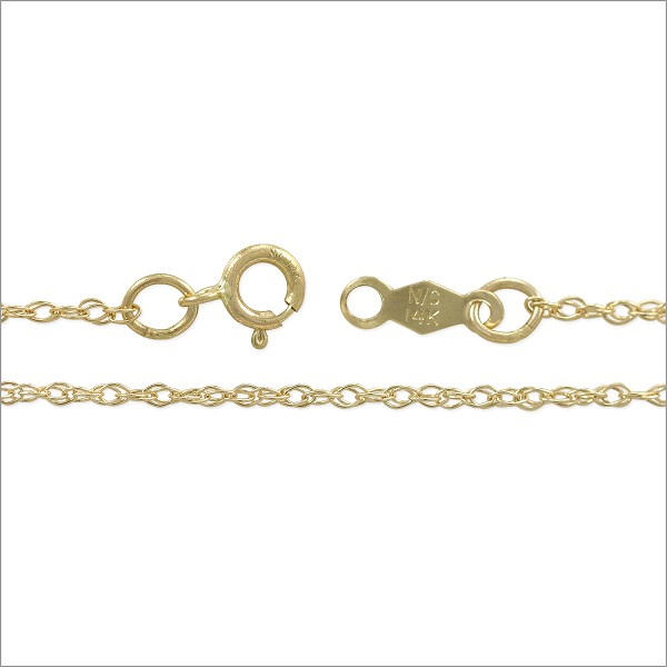 "Rope Chain 1.0mm 14k Yellow Gold 18"" (1-Pc)"