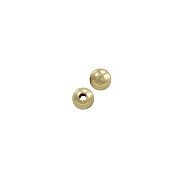 3mm Round Bead 14k Yellow Gold (1-Pc)